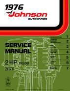 1976 Johnson 2HP 2R76 Outboard Motor Service Manual