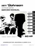 1971 Johnson 60HP outboards Service Manual - preview